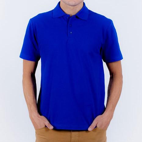 Рубашка-поло синяя