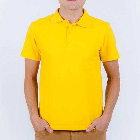 Рубашка-поло желтый