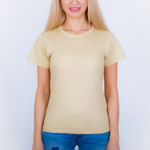 футболка женская бежевая