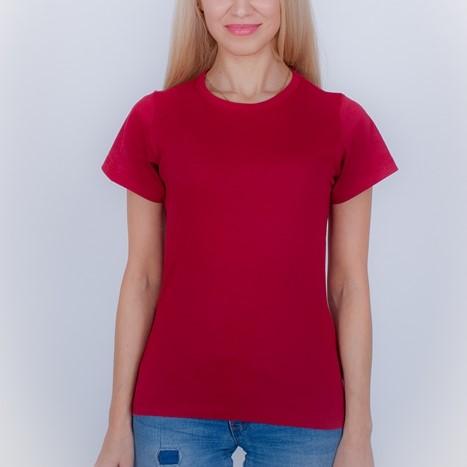 женская футболка бордо