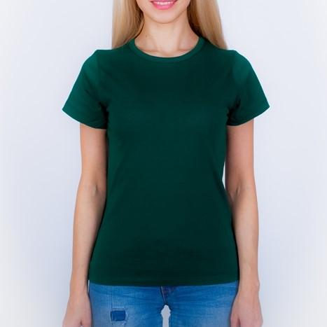 футболка женская темно зеленая