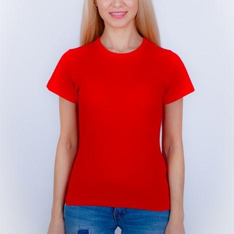 футболка женская красная