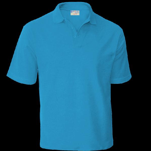 рубашка поло голубая